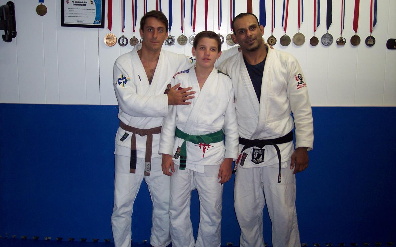 Young Michael with Instructors